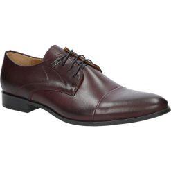 Bordowe buty wizytowe sznurowane bordo palony DUO MEN 00221E-04-B-P-008. Czerwone buty wizytowe męskie Duo Men, na sznurówki. Za 228,99 zł.