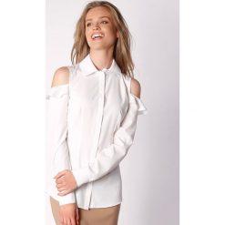 Koszule wiązane damskie: Koszula w kolorze kremowym