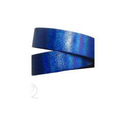 Bransoletka skóra opalizująca owijana szafirowa. Niebieskie bransoletki damskie na nogę marki Mikashka, sztuczne. Za 41,00 zł.
