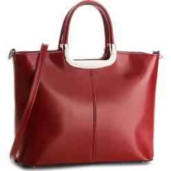 Torebka CREOLE - K10174  Czerwony. Czerwone torebki klasyczne damskie Creole, ze skóry, duże. W wyprzedaży za 209,00 zł.