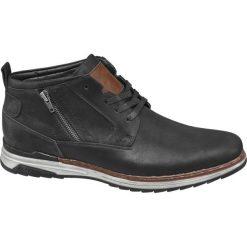Kozaki męskie Venice czarne. Czarne buty zimowe męskie marki Venice, z materiału, na zamek. Za 139,90 zł.