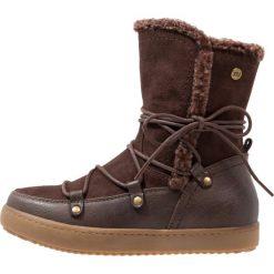 Buty zimowe damskie: XTI Kozaki sznurowane brown