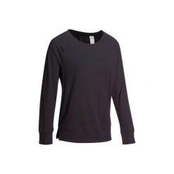 Koszulka z długim rękawem Gym. Czarne bluzki sportowe damskie marki DOMYOS, z elastanu. W wyprzedaży za 21,00 zł.