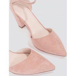 Czółenka: NA-KD Shoes Czółenka na średnim obcasie - Pink