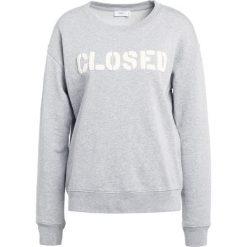 Bluzy rozpinane damskie: CLOSED CREWNECK Bluza grey melange