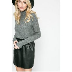 Only - Sweter Orleans. Szare golfy damskie marki ONLY, s, z bawełny, casualowe, z okrągłym kołnierzem. Za 159,90 zł.