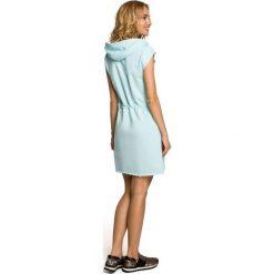 JULIET Mini sukienka dresowa z kapturem - miętowa. Szare sukienki dresowe marki bonprix, melanż, z kapturem, z długim rękawem, maxi. Za 136,99 zł.