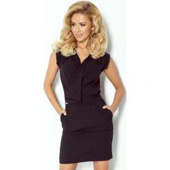 Elena Sukienka z zakładanym dekoltem - CZARNA. Czarne sukienki hiszpanki numoco, s, z krótkim rękawem, mini. Za 102,09 zł.