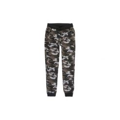 Spodnie damskie dresowe, moro ze ściągaczami we wzory. Czarne spodnie dresowe damskie TXM, moro, z dresówki. Za 24,99 zł.