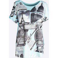 Niebieski T-shirt Shine a Light. Niebieskie bluzki damskie Born2be, xl. Za 29,99 zł.