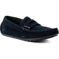 Mokasyny CALVIN KLEIN - Ivan F0504 Dark Navy. Niebieskie mokasyny męskie Calvin Klein, ze skóry. Za 619,90 zł.