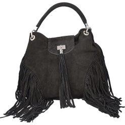 Torebki klasyczne damskie: Skórzana torebka w kolorze czarnym – 32 x 36 x 13 cm