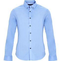 Jasnoniebieska Koszula Headmost. Czarne koszule męskie marki Born2be, l, z aplikacjami, z dresówki. Za 64,99 zł.