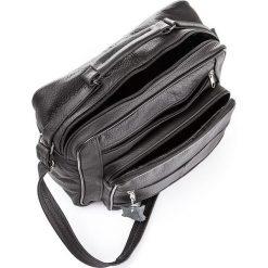 Skórzana męska czarna torba ABRUZZO William. Czarne torby na ramię męskie Abruzzo, w paski, na ramię, duże. Za 149,00 zł.