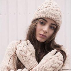 Czapki zimowe damskie: Komplet Bobbie/ Czapka + Rękawiczki BEŻ
