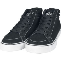 Urban Classics High Canvas Sneaker Buty sportowe czarny/biały. Czarne buty skate męskie marki Urban Classics, z aplikacjami, z materiału. Za 121,90 zł.
