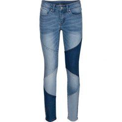 Jeansy damskie: Dżinsy SKINNY w krótszej długości bonprix niebieski bleached