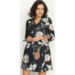 Sukienki: Czarno-Brązowa Sukienka Sleepy Petal