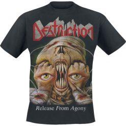 Destruction Release From Agony T-Shirt czarny. Czarne t-shirty męskie z nadrukiem Destruction, xl, z dekoltem na plecach. Za 74,90 zł.