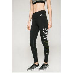 Nike - Legginsy. Szare legginsy skórzane Nike, l, z nadrukiem. Za 159,90 zł.