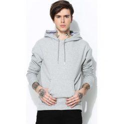 Szara Bluza Hyped. Czarne bluzy męskie rozpinane marki Born2be, l, z aplikacjami, z dresówki. Za 94,99 zł.