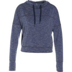 GAP BREATHE CROPPED HOODIE Koszulka sportowa true indigo. Niebieskie t-shirty damskie GAP, xl, z elastanu, z długim rękawem. W wyprzedaży za 151,20 zł.
