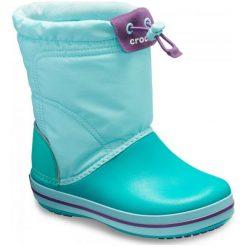Crocs Buty Crocband Lodgepoint Boot Ice Blue/Tropical Teal 28-29 (c11). Niebieskie buciki niemowlęce chłopięce marki Crocs, na zimę, z materiału. Za 259,00 zł.