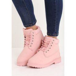 Buty zimowe damskie: Różowe Traperki Untoward