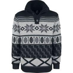 Brandit Winter Jacquard Pullover Sweter z dzianiny czarny (Anthracite)/czarny. Czarne swetry rozpinane męskie Brandit, s, z dzianiny, z wykładanym kołnierzem. Za 144,90 zł.
