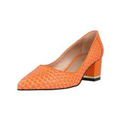 Buty ślubne damskie: Czółenka w kolorze pomarańczowym