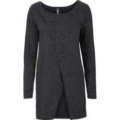 Długa bluza bonprix ciemnoszary. Szare bluzy rozpinane damskie bonprix, z długim rękawem, długie. Za 59,99 zł.