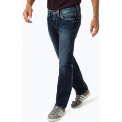Pepe Jeans - Jeansy męskie – Kingston Zip, niebieski. Niebieskie jeansy męskie z dziurami marki Pepe Jeans. Za 349,95 zł.