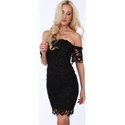 Sukienka z opadającym rękawkiem czarna ZZ214. Czarne sukienki Fasardi, l. Za 99,00 zł.