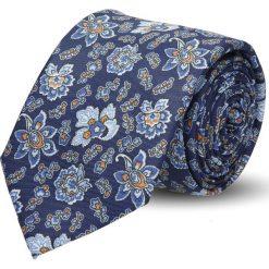 Krawaty męskie: krawat platinum granatowy classic 247