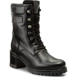 Botki TAMARIS - 1-25299-29 Black Comb 098. Czarne buty zimowe damskie marki Tamaris, ze skóry, na obcasie. W wyprzedaży za 219,00 zł.