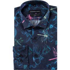 Koszula SIMONE slim KDWS000382. Szare koszule męskie na spinki marki S.Oliver, l, z bawełny, z włoskim kołnierzykiem, z długim rękawem. Za 199,00 zł.