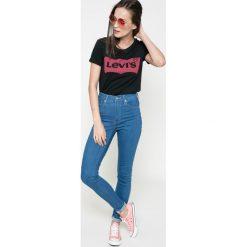 Levi's - Jeansy Mile. Brązowe jeansy damskie marki Levi's®, z bawełny, z podwyższonym stanem. W wyprzedaży za 289,90 zł.