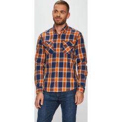 S. Oliver - Koszula. Brązowe koszule męskie na spinki S.Oliver, l, w kratkę, z bawełny, button down, z długim rękawem. W wyprzedaży za 129,90 zł.