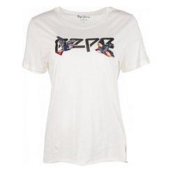 Pepe Jeans T-Shirt Damski Diana Xs, Kremowy. Szare t-shirty damskie marki Pepe Jeans, m, z jeansu, z okrągłym kołnierzem. Za 183,00 zł.