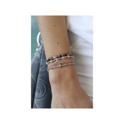 Bransoletki damskie: Jelly – Złota lub srebrna bransoletka z kwarcem różowym