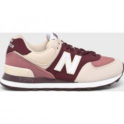 New Balance - Buty WL574INB. Szare buty sportowe damskie marki New Balance, z materiału. Za 349,90 zł.