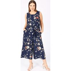 Kombinezony damskie: Kombinezon spodnie, kwiatowy nadruk