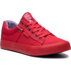 Tenisówki BIG STAR - AA174093 Red. Czerwone tenisówki męskie BIG STAR, z gumy. Za 99,00 zł.