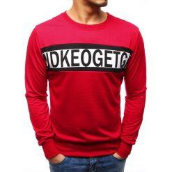 Bejsbolówki męskie: Bluza męska z nadrukiem czerwona (bx3507)