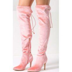 Różowe Kozaki Fruit Dimmare. Czerwone buty zimowe damskie vices, z materiału, ze szpiczastym noskiem, na wysokim obcasie, na obcasie. Za 119,99 zł.