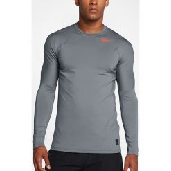 Nike Koszulka męska M NP HPRWM TOP LS FTTD szara r. XL (838026 065). Szare t-shirty męskie Nike, m. Za 209,45 zł.