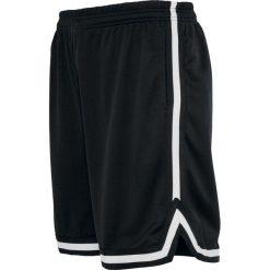 Urban Classics Stripes Mesh Shorts Krótkie spodenki czarny/biały. Niebieskie spodenki sportowe męskie marki Urban Classics, l, z okrągłym kołnierzem. Za 62,90 zł.