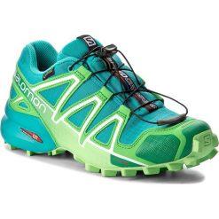 Buty SALOMON - Speedcross 4 Gtx W GORE-TEX 383083 20 G0 Teal Blue F/Peppermint. Szare buty sportowe damskie marki Salomon, z gore-texu, na sznurówki, outdoorowe, gore-tex. W wyprzedaży za 399,00 zł.