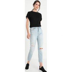 Abercrombie & Fitch SIMONE Jeans Skinny Fit light destroy. Szare jeansy damskie relaxed fit Abercrombie & Fitch, z bawełny. Za 409,00 zł.