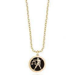 Wisiorki damskie: RABAT Złoty Wisiorek - złoto żółte 585, Onyks